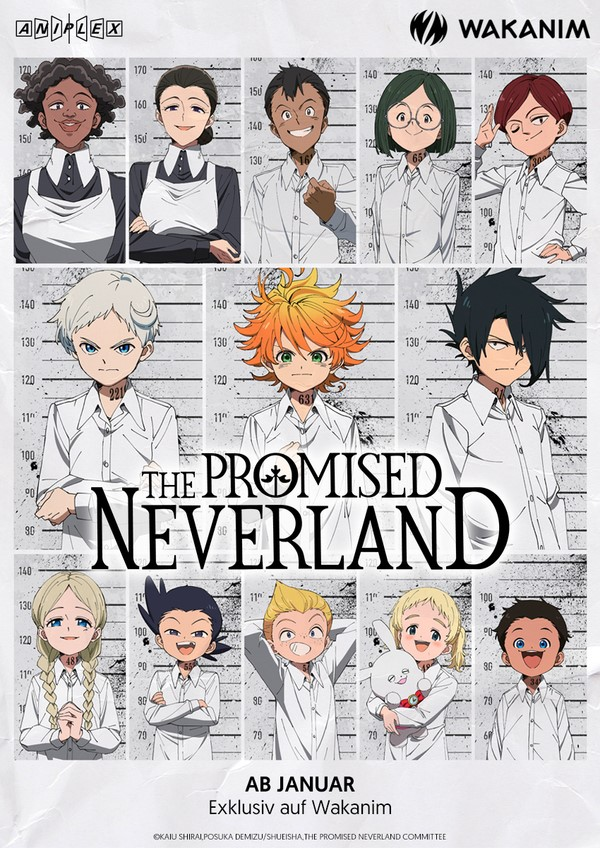 The Promised Neverland im Simulcast ab Januar bei WAKANIM.tv